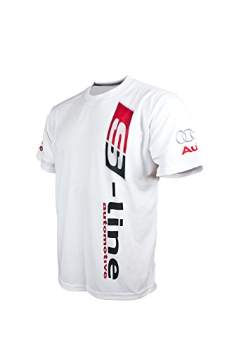 Audi S-line White Logo Racing Car Cool Graphic Short Sleeve T Shirt Black DTM