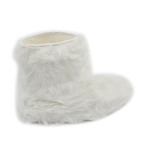 Home Slipper Indoor Boots,Womens Girls Winter Warm Fairisle Fringes with Pom Poms Fashionable House Booties, Size XL by Home Slipper (Image #3)
