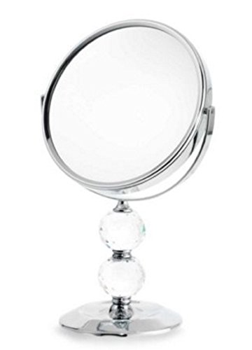 Danielle Double Crystal Ball 10x Magnification Vanity Mirror