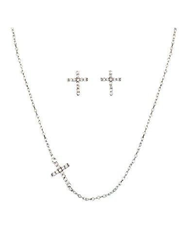 - Montana Silversmiths Quiet Faith, Tiny Crystal Heart Jewelry Set
