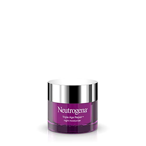 Neutrogena Triple Age Repair Vitamin C Night Cream, Anti Wrinkle Face Cream & Neck Cream, Firming Lotion, Face Toner & Dark Spot Remover for Face with Vitamin C, Glycerin & Shea Butter, 1.7 oz (Anti Wrinkle Night Cream)