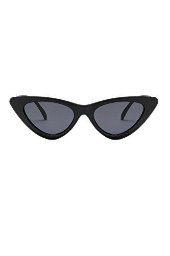 À Des Vintage Lens Black Yeux Lunettes Chat Avec De Plats Soleil Triangle De De Les De 1qO6H