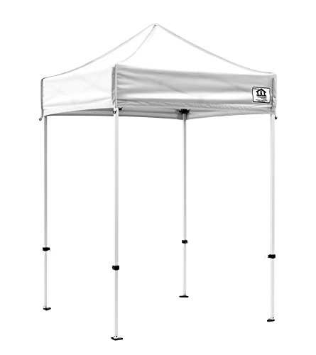 Impact Canopy 5x5 EZ Pop Up Canopy Tent Commercial Grade Portable Instant Canopy (Choose Color) (White)