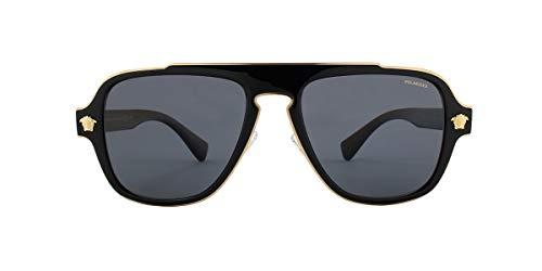 (Versace Men's VE2199 Black/Polarized Grey One Size)