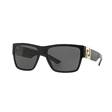 f6a3f58e4e7b Versace Mens Sunglasses (VE4296) Black Grey Acetate - Polarized - 59mm