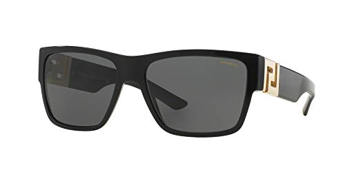 Versace Mens Sunglasses (VE4296) Black/Grey Acetate - Polarized - - 87 Sunglasses Acetate