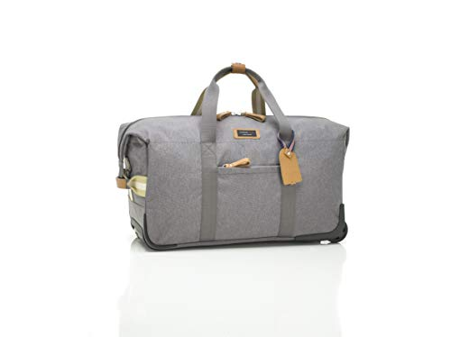 Storksak Travel Cabin Carry On with Wheels and Multi-functional Organizer, Water-Resistant, Grey