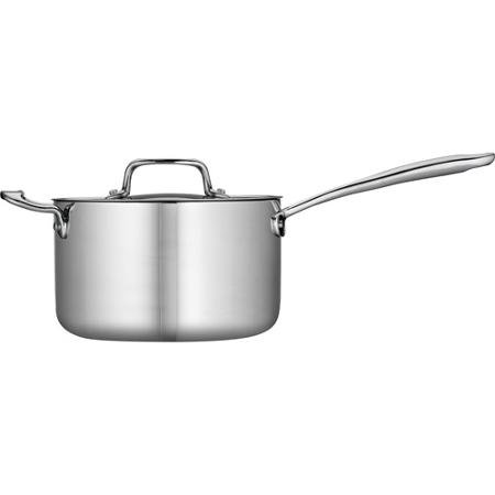 Tramontina 4-Qt Tri-Ply Clad Sauce Pan with Lid, Stainless Steel