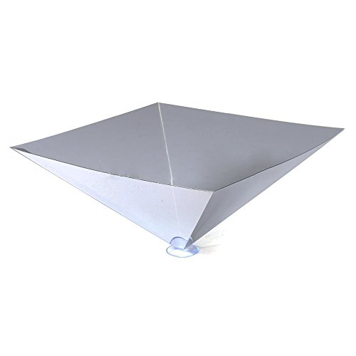 TOOGOO(R) Portable 3D Holographic Hologram Display Pyramid Stand Projector For iPad Tablet Tea-color