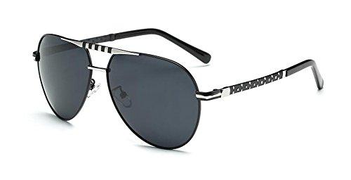 C retro style inspirées Noir en cercle soleil rond Frêne vintage lunettes de du Lennon polarisées métallique 6wYHR61Zyq