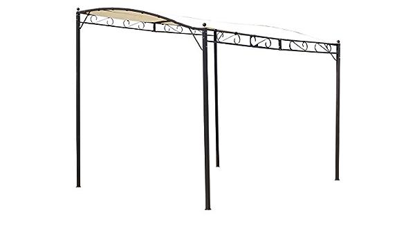 habitatetjardin Pergola de Pared Lisa Beige en Acero - 3 x 2.5 x 2/2.5 m