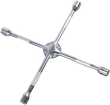 レンチ ブレースレンチ クロススパナ 交換ツール 保管用 ツール 耐食性 4ウェイ 全2サイズ - 17-19-21-23