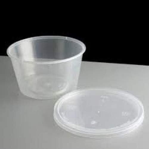 150 x, tapas y redondo, recipientes, cubos de plástico ...