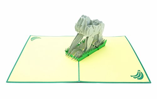 Ups Business Card - PopLife Silverback Gorilla 3D Pop Up Greeting Card for All Occasions - Wild Animal, Primate Family, Monkey Business - Folds Flat for Mailing - Birthday, Get Well, Graduation, Anniversary, Thank You