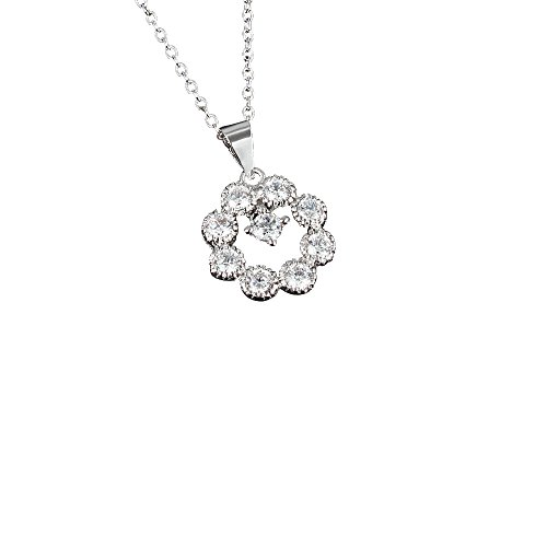 Gifts for Women Necklace 18k Plated Cubic Zirconia Exquisite Pendant Necklace for Girls (Good Ideas For Couples Costumes)
