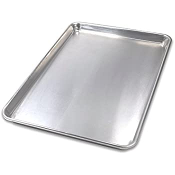 USA Pan 1050HS-BB Bare Aluminum Bakeware Half Sheet Baking Pan, Warp-Resistant, Rust-Proof
