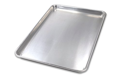 USA Pan 1050HS-BB Bare Aluminum Bakeware Half Sheet Baking Pan, Warp-Resistant, Rust-Proof