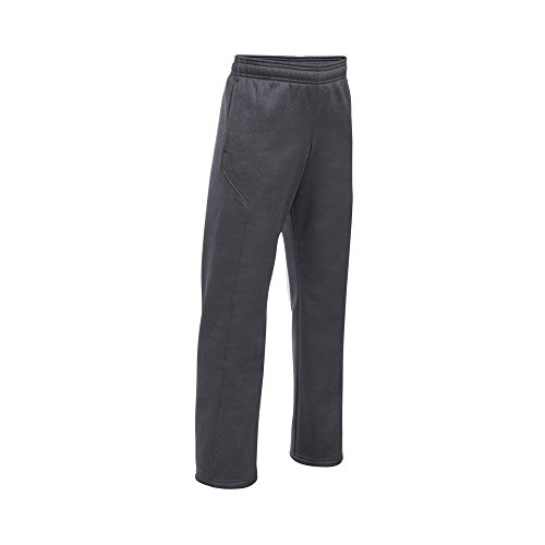 Under Armour Boys' Storm Armour Fleece Big Logo Pants, Carbon Heather (090)/Black, Youth Small by Under Armour (Image #2)