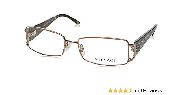 f4243469b022 Amazon.com: Versace VE1163B 1013 Eyeglasses Brown Demo Lens 52-16-130: Shoes