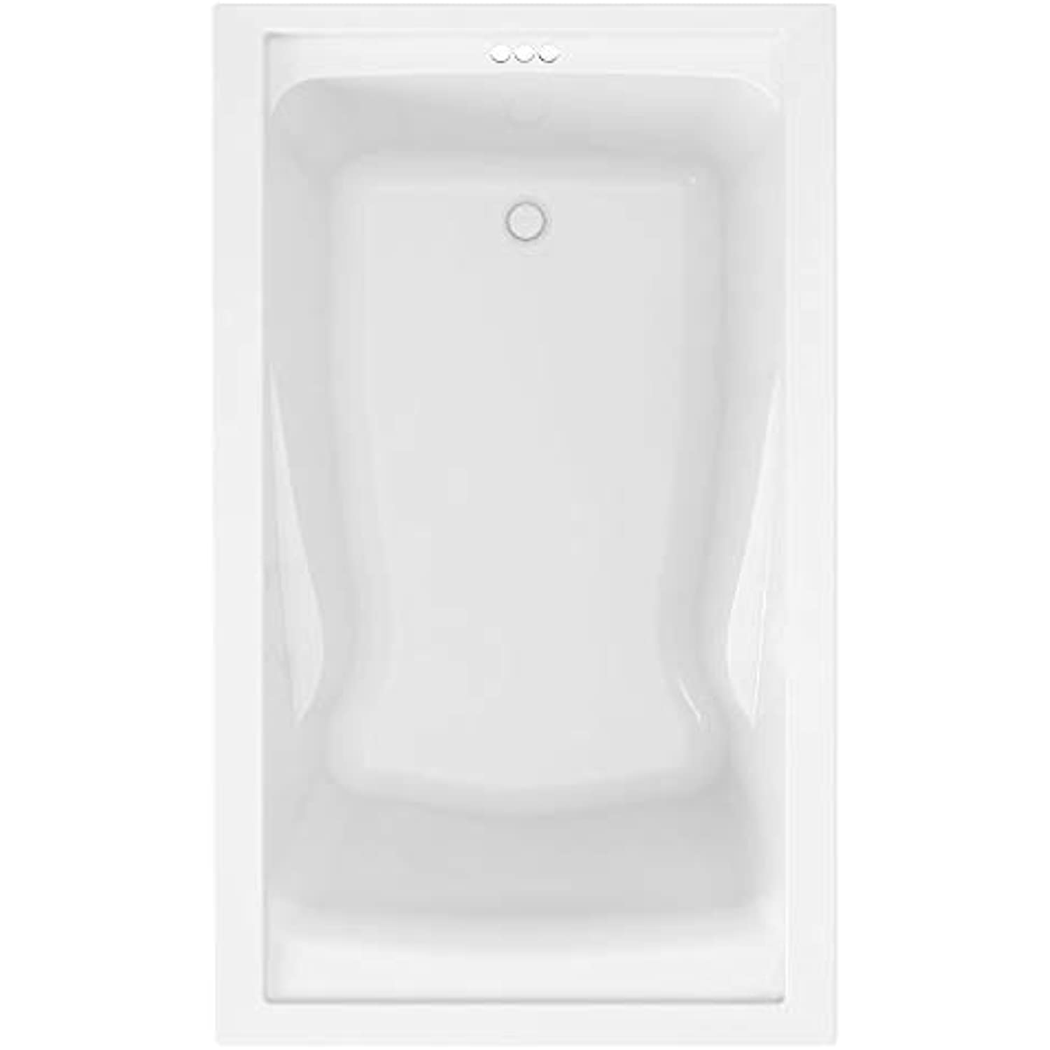 American Standard 2422V002.011 Evolution 5 ft. x 32 in. Deep Soaking Tub with Reversible Drain, Arctic