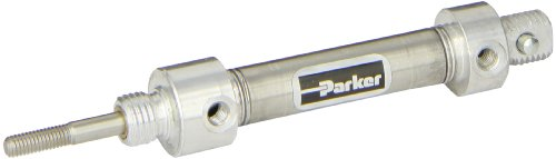 Parker-44DPSR010-Stainless-Steel-Air-Cylinder-Round-Body-Double-Acting-Pivot-Nose-Mount-w-Pivot-Pin-Non-cushioned-716-inches-Bore-1-inches-Stroke-316-inches-Rod-OD-10-UNF-Port