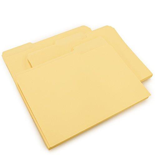 Mead File Folders, Letter Size, 1/3-Cut Tab, Manila, 50 per Box (25708)
