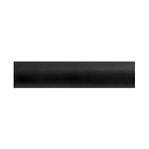 BEME International 1-3/8-Inch Diameter Round Wood Drapery Rod, 72-Inch, Black