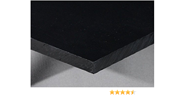 "High Density Polyethylene HDPE Plastic Sheet 1//2/"" x 19/"" x 48/"" Black Color"