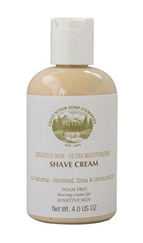 Sensitive Skin, Foam-Free Shaving Cream for All Natural Moisturizing Shave with Oatmeal, Aloe Vera, Shea & Cocoa Butter, 4 FL OZ -