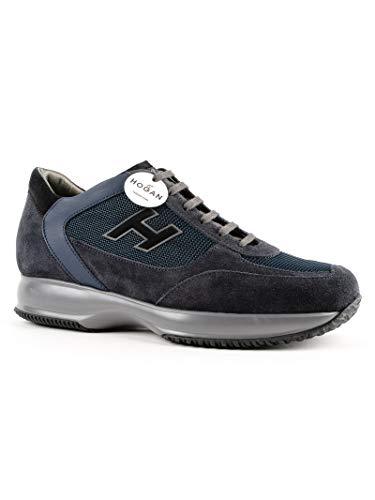 Uomo Hogan Interactive New in con Blu Etichetta Sneakers in Pelle H Flock Dettagli Suede wtwUr5q