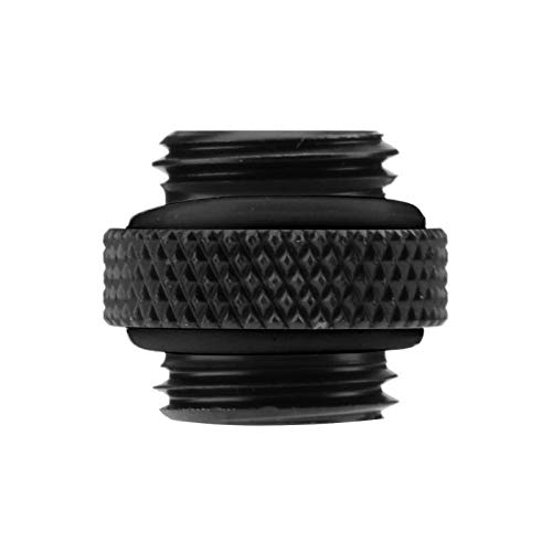 Cooling System Water External - Fasmodel - PC Computer Water Cooling Accessories G1/4 Dual External Thread Hose Connector for PC Water Cooling Cooler System Black White