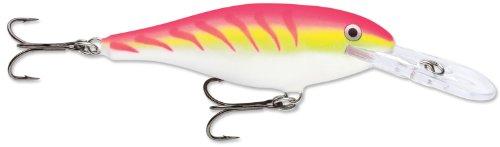 Rapala Shad Rap 6 Fishing Lure, Pink Tiger UV, 2-1/2-Inch