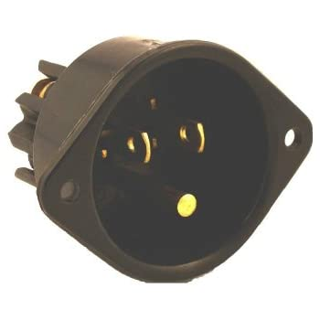 Leviton 5278-C 15 Amp, 125 Volt, Flanged Inlet Receptacle