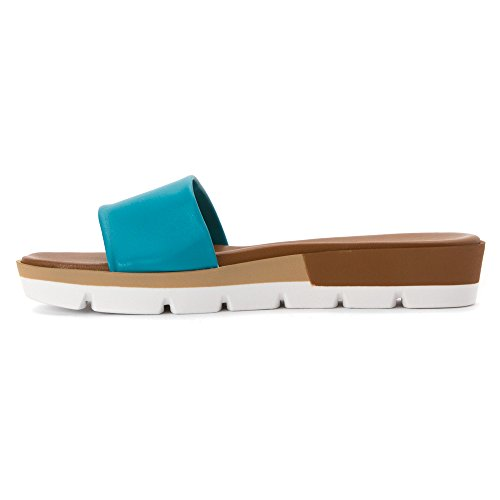 Women's M 37 Mountain Leather Turquoise Summit by Sandal Faye White f6gtqHaSwR