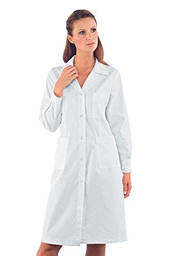 Mezza Bianco M Bianco 150 pressione m² 35 a Poliestere 65 Bottoni Manica 18080 Cotone gr Donna Bianco Isacco Camice Tessuto qpwUzzB
