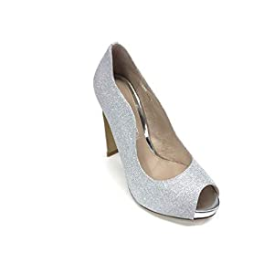 Cafe Noir Decolte Open Toe Glitter Argento