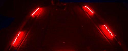 BLAST LED NOX Series - Boat LED Front and Rear Deck Light Kit, Interior LED Light kit - (RED)