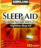 Kirkland Signature Nighttime Sleep Aid (Doxylamine Succinate 25 mg), 192 Tablets Personal Healthcare / Health Care