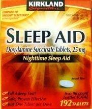 Kirkland Signature Nighttime Sleep Aid (Doxylamine Succinate 25 mg), 192 Tablets Personal Healthcare / Health Care by Kirkland Signature