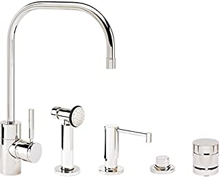 product image for Waterstone 3825-4-DAMB Fulton Kitchen Faucet 4pc. Suite Distressed American Bronze