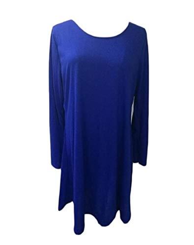 Coolred-femmes Cocktail Pur Parti Couleur Coupe Décontractée Club Décontracté Mini Bleu Robe