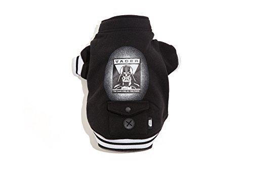 Protect Me Alert Series Star Wars Darth Vader Dog Sweater Jacket, Black, Medium