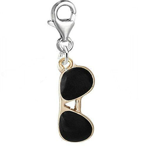 Sunglasses Clip On Lobster Clasp Charm - Jewelry Making Supply by Charm ()