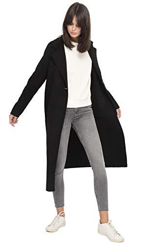 Laine Femme Drap Long On Vous De Manteau Noir En Parle wOO0Zqxv