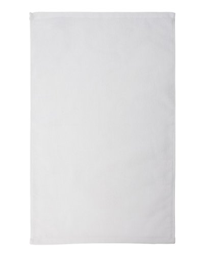 Towels Plus by Anvil Deluxe Hemmed Hand Towel (T680)-White,One Size