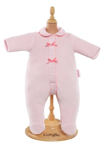 "Corolle Mon Classique Pink Pajamas for 17"" Doll Fashions"