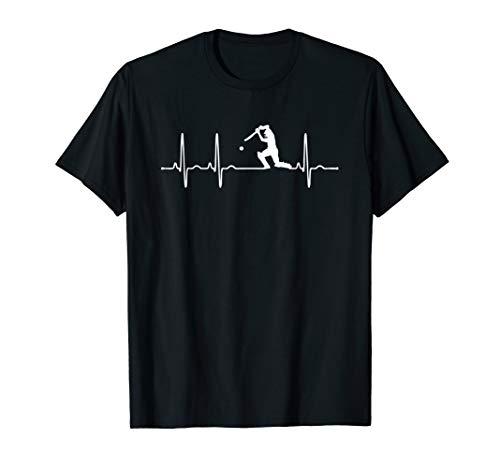 Cricket Player T-shirts - Heartbeat Cricket T-Shirt Gift Cricket Player shirt