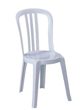 Neuf Grosfillex Miami Bistro Confortable Chaise Monobloc Design Empilable  Chaises - Blanc 2cd9b9ffdca4