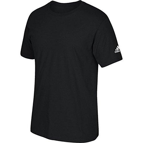 Adidas Voksen Kortermet Logo T-shirt Svart