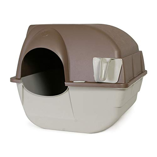 Omega Paw Roll'n Clean Self Cleaning Cat Litter Box, Regular